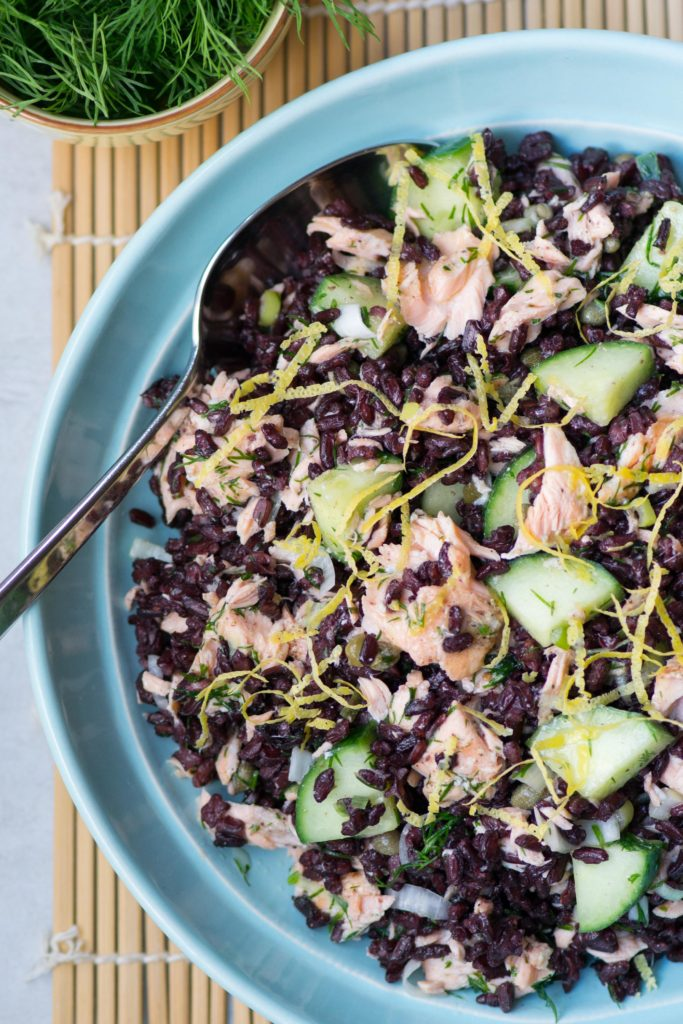 Black Rice Salmon Salad with Lemon Dijon Vinaigrette ...
