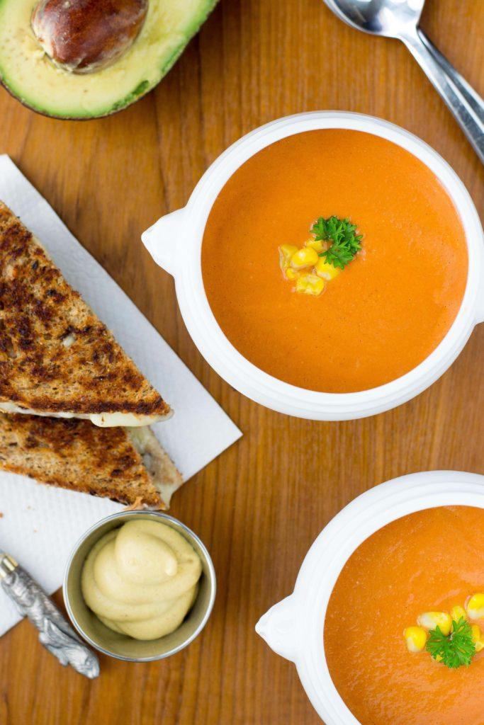 Creamy Tomato Corn and Avocado Blender Soup - Queen of My ...